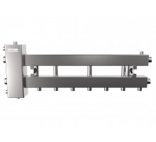 Гидрострелка с коллектором на 4 контура до 150 кВт (балансировочный коллектор из нержавеющей стали BMSS-150-4D)